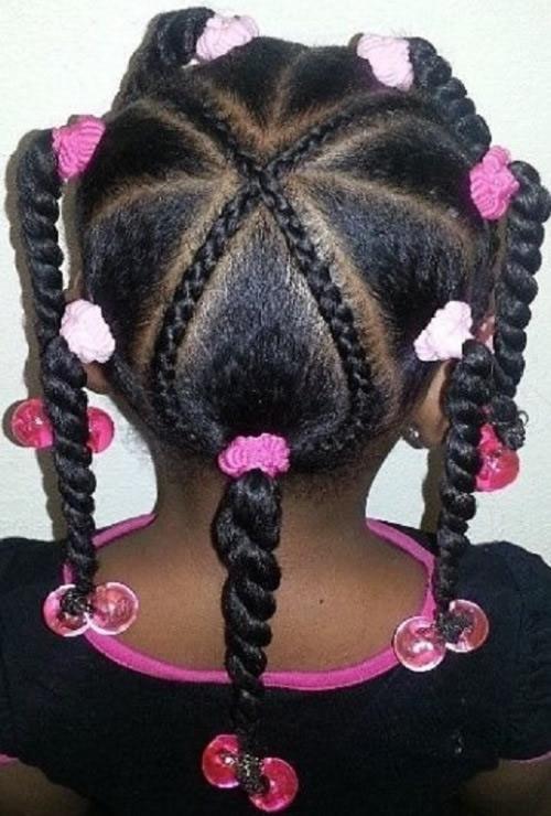 Cute Hairstyles for Black Girls braided star