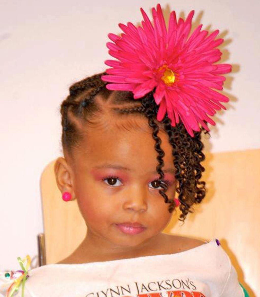 Cute Hairstyles for Black Girls flower look