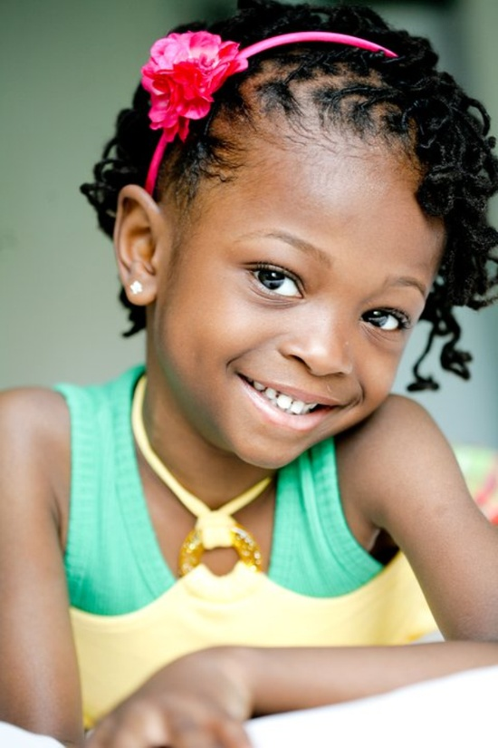 Little black girls hairstyles Headband look