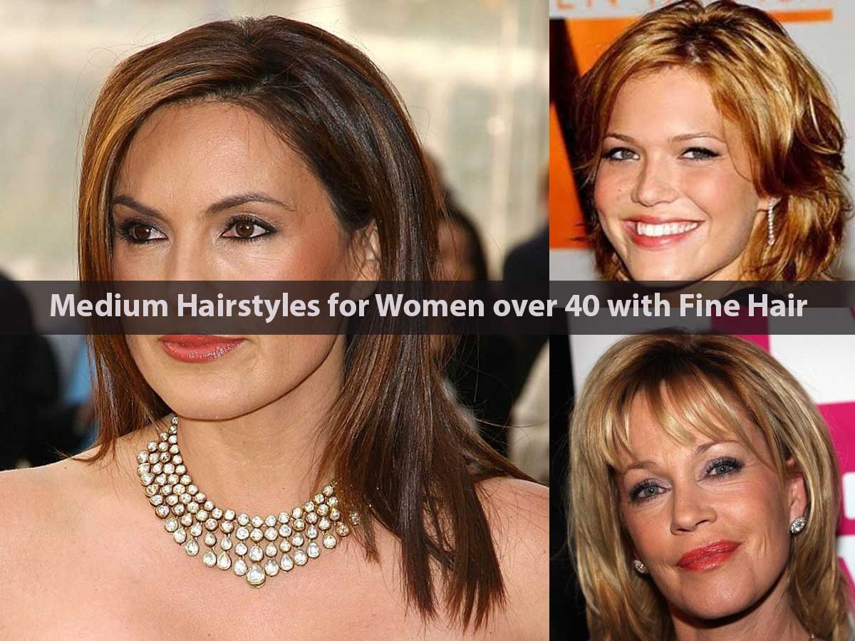 Medium Hairstyles for Women over 40 with Fine Hair