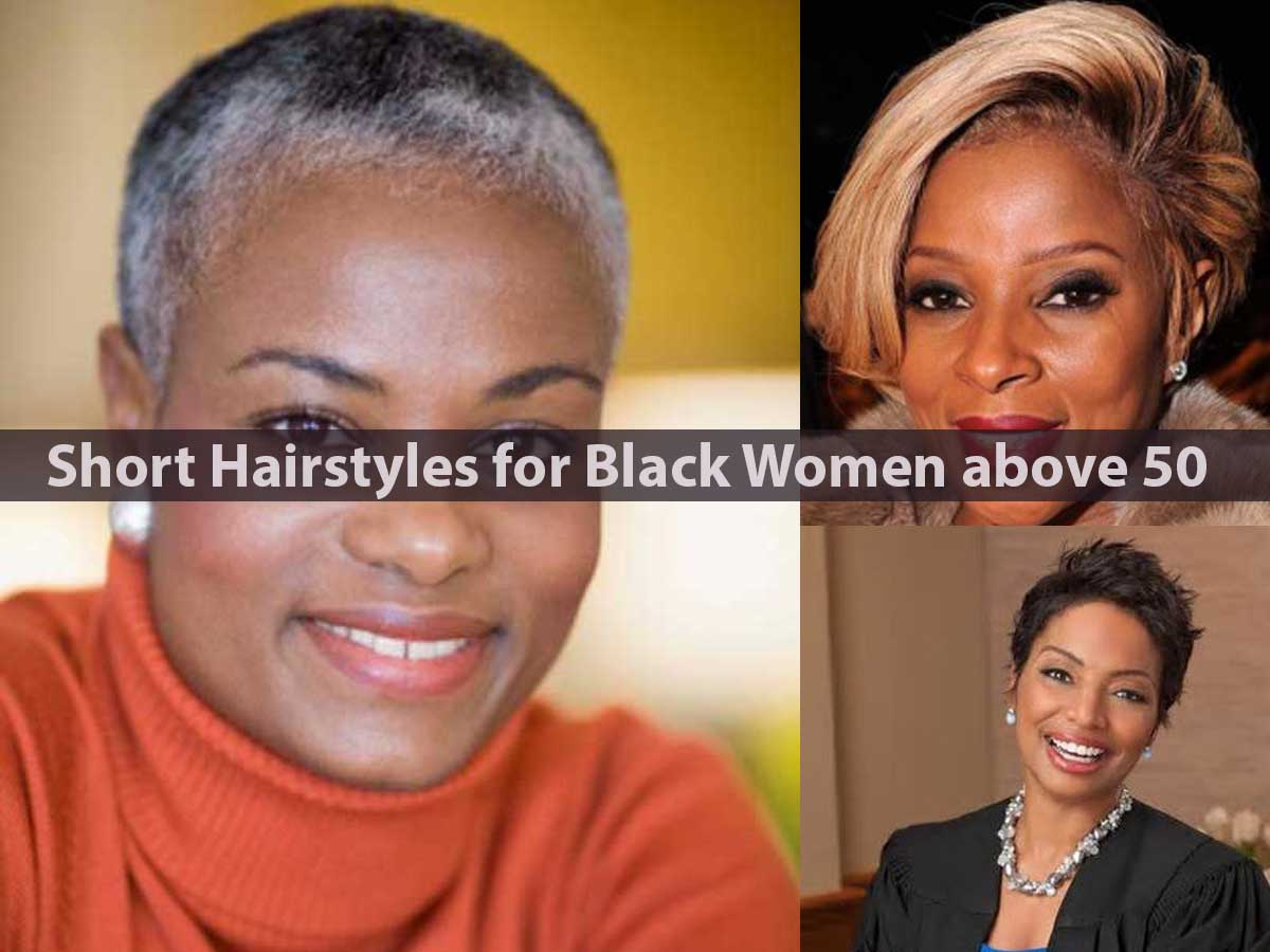 Short Hairstyles for Black Women above 50