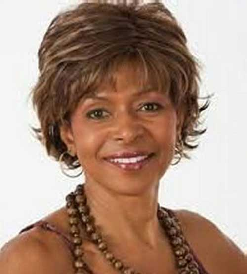 Short hairstyles for black women above 50 casual short hair