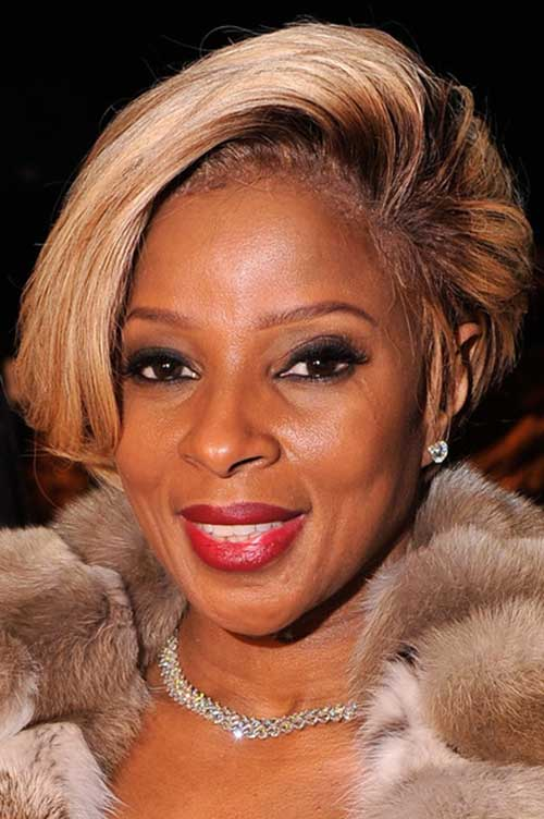 Short hairstyles for black women above 50 short blonde look