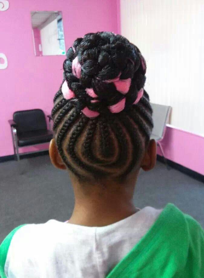 braids hairstyle for kids braided bun