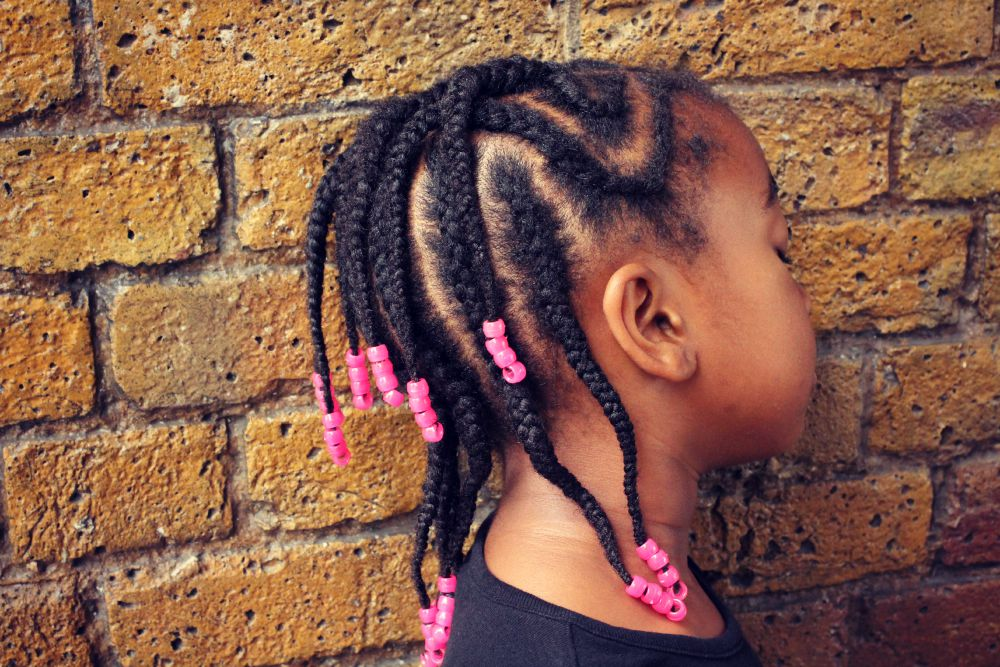 braids style for kids short numerous braids