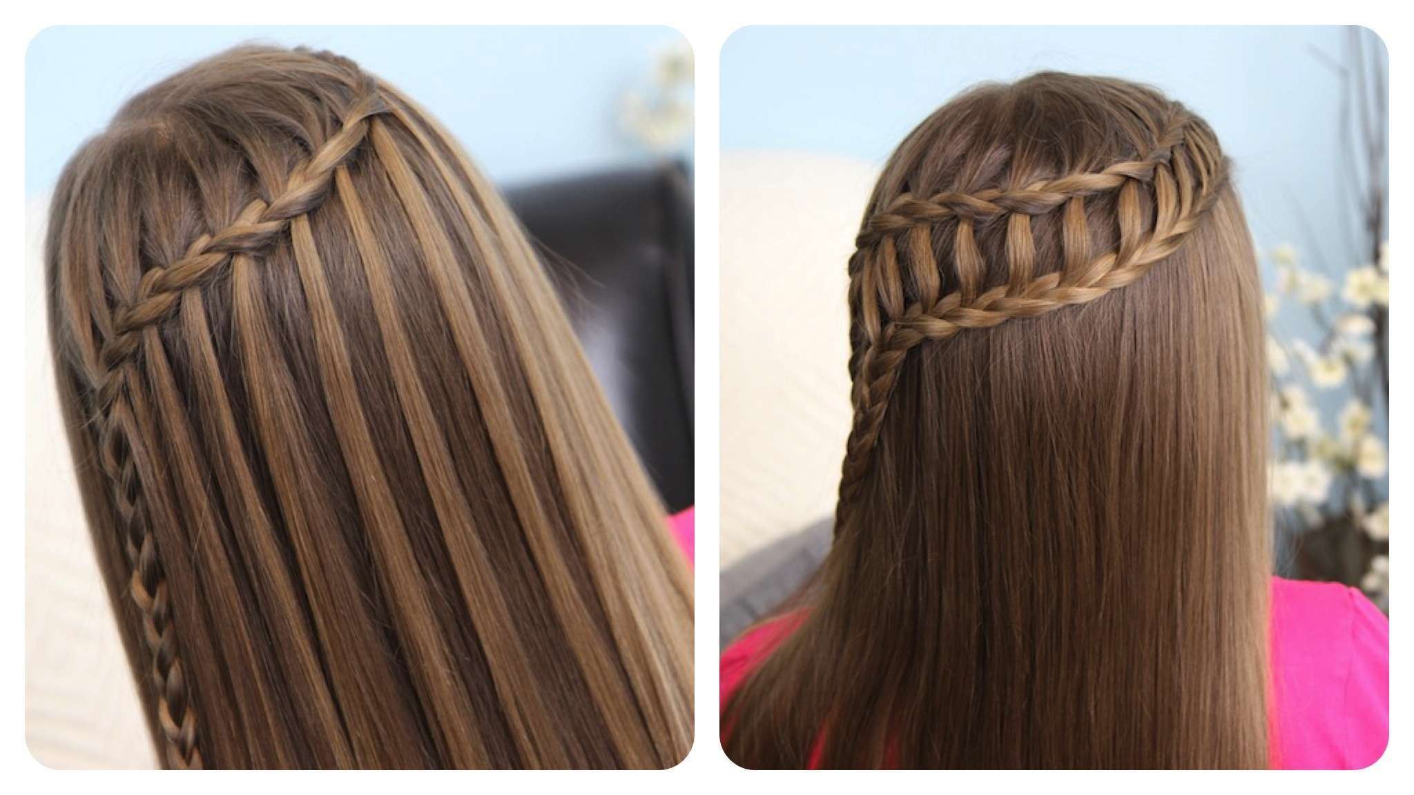 braids style for kids waterfall braid