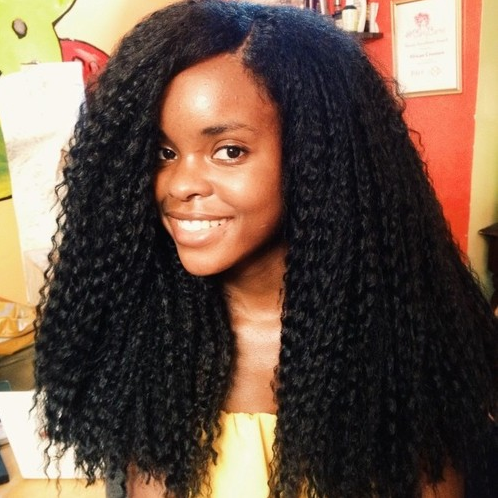 crochet braid hairstyle Long and straight