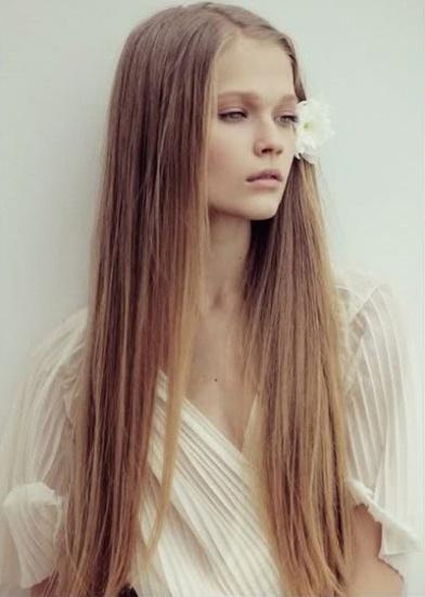 thin long hair