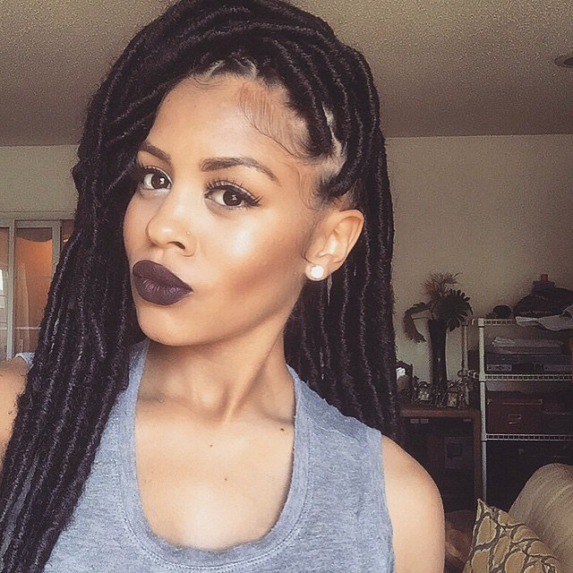 long hairstyles for black women Braids with dreads