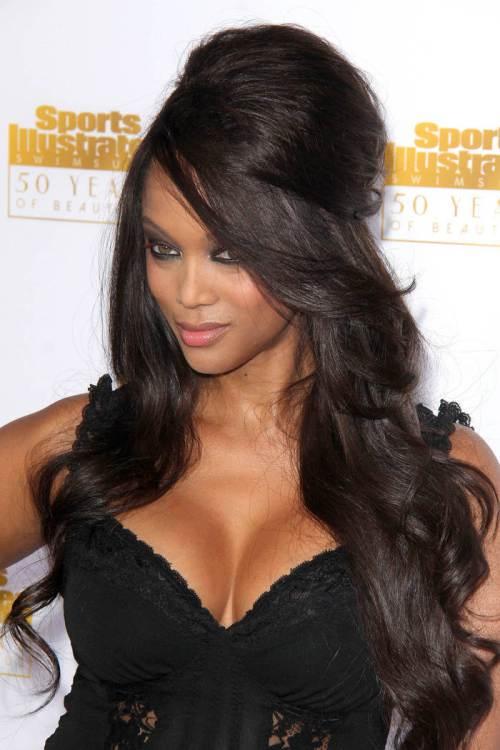 long hairstyles for black women Long black bouffant