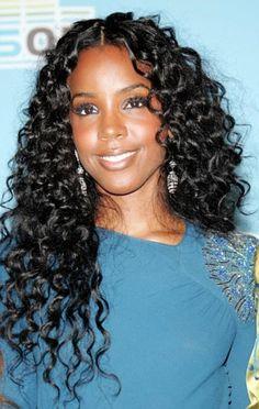 long hairstyles for black women Tsunami style