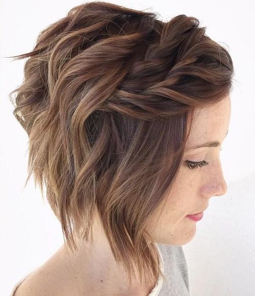 short wavy braid hairstyle