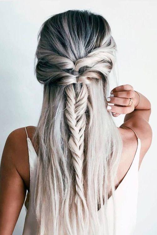 Grey half braid
