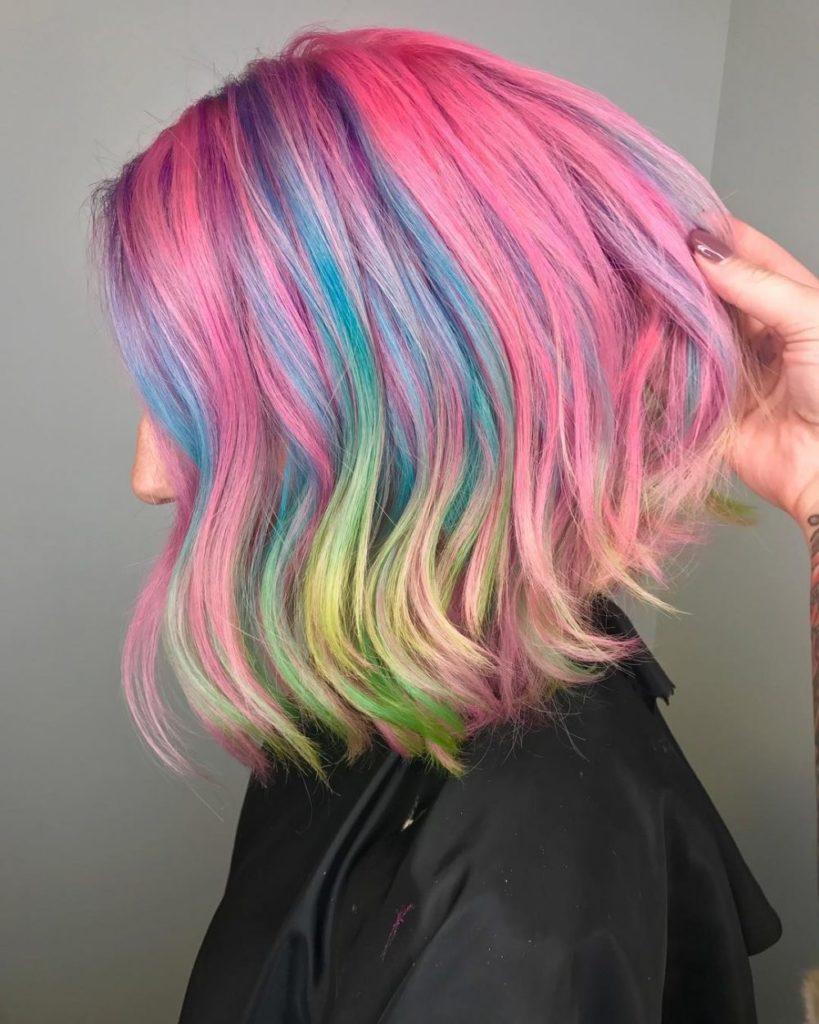 mermaid color bob