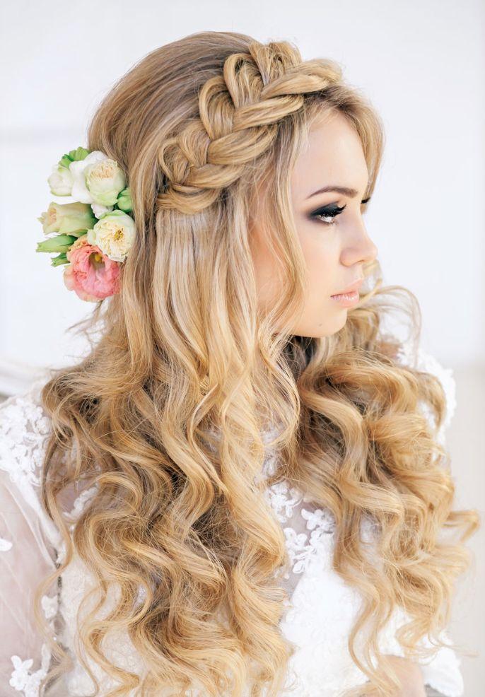 flowery side braid