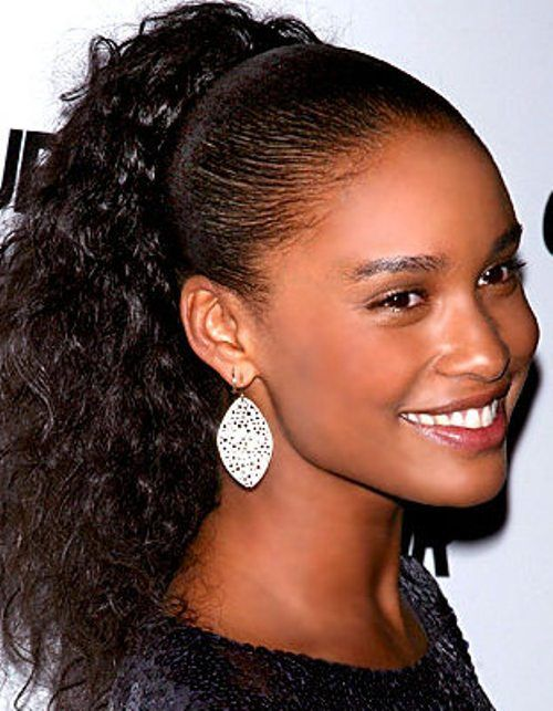 Curly ponytail Black Girls Ponytail Hairstyle