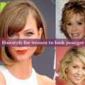 Hairstyle for women to look younger