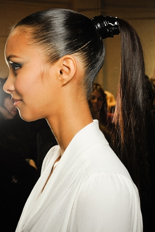 Straight long ponytail Black Girls Ponytail Hairstyle