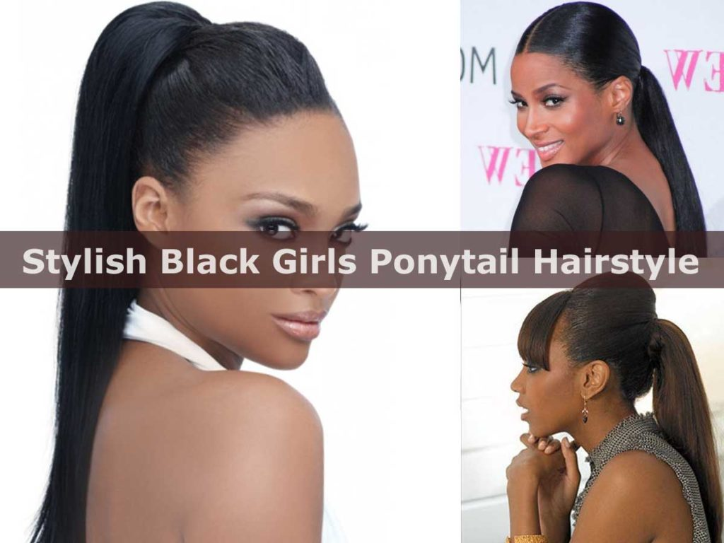 Stylish Black Girls Ponytail Hairstyle