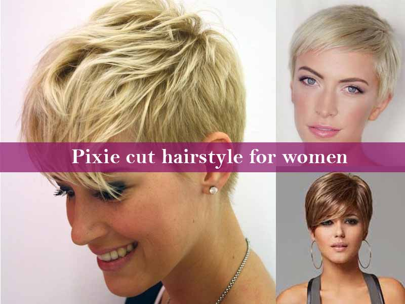 Pixie cut hairstyle for women