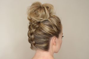 french-braids-hairstyles-for-women-high-french-braid-with-messed-up-bun