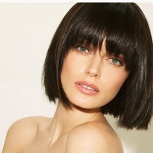 hairstyles-for-girls-with-short-hair-Black fringed bob