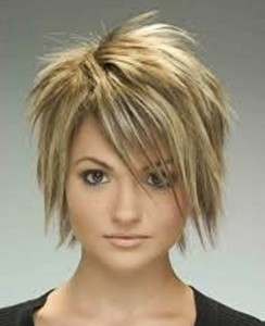 hairstyles-for-girls-with-short-hair-Cut layered pixie haircut with bob side