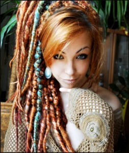 dreadlocks-hairstyle-for-women-Fun colorful dreads