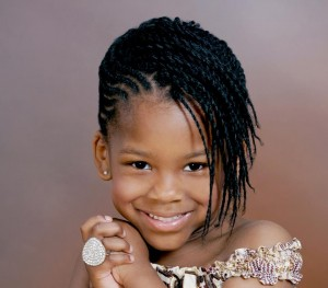 hairstyles-for-black-little-girls-Braided side bangs
