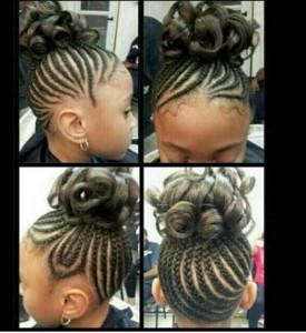 hairstyles-for-black-little-girls-Braided undo