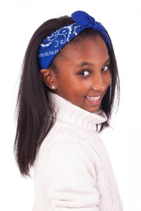 hairstyles-for-black-little-girls-Straight hair with hairband