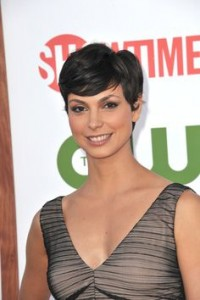 short-hairstyle-for-round-faces-Pixie with tapered side burns