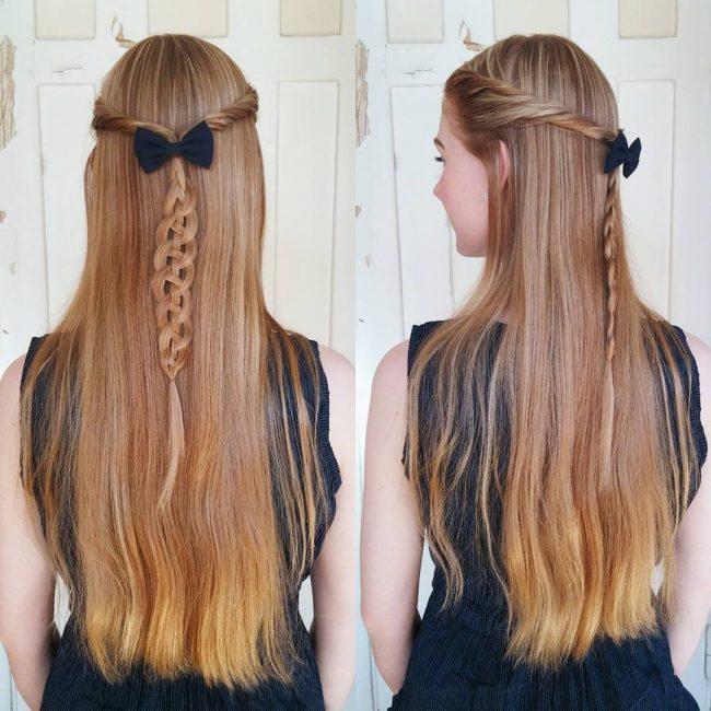 Four-Strand-Pull-Through-Brai straight hairstyle