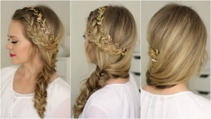 side-fish-tail-half-up-braid-for-brides
