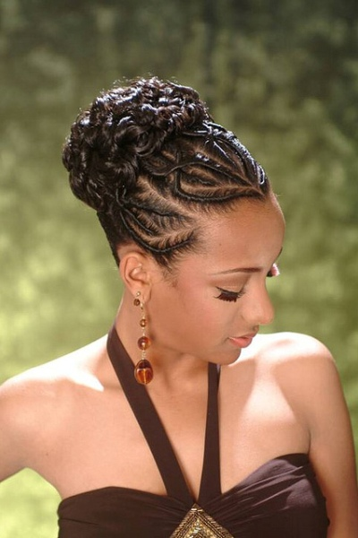 African American up-do hairstyles Braided up-do