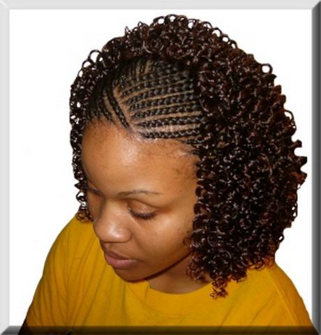 Black braided hairstyles Curved braids