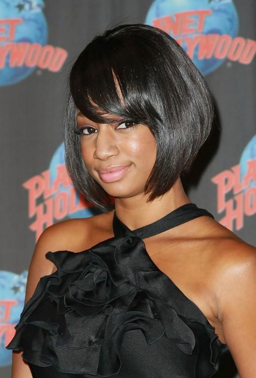 Bob Hairstyles for Black Bob with bangs