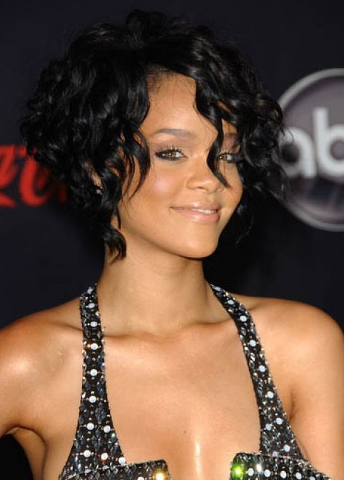 Bob Hairstyles for Black Women Curly bob cut