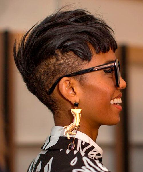 Bob Hairstyles for Black Women Extra cropped bob haircut