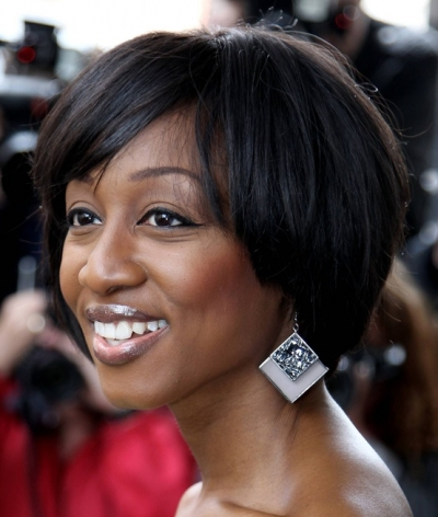 Bob Hairstyles for Black Women Side parted bob cut