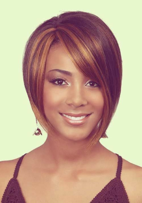 Bob Hairstyles for Black Women Straight and steep
