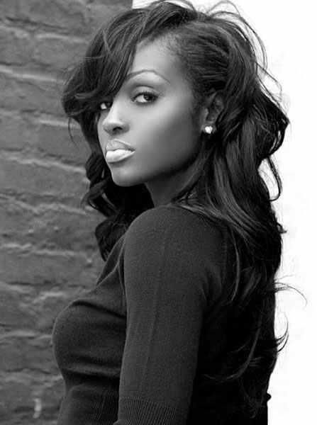 Natural Hairstyles for African, American Women Cool side swept natural curls