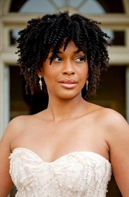 Natural Hairstyles for African, American Women Medium length natural curls