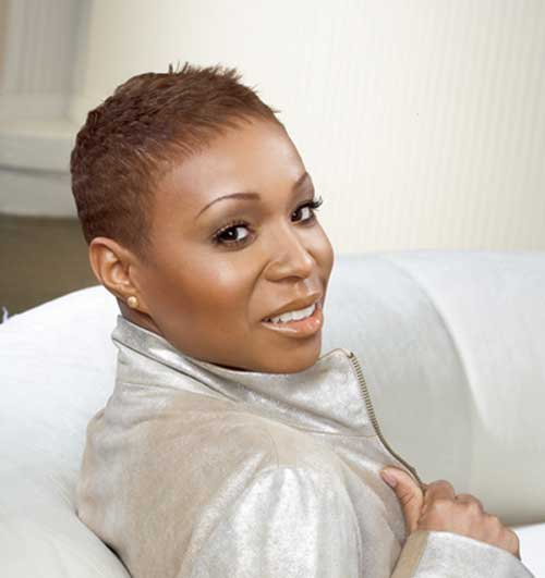 Natural Hairstyles for African, American Women Natural short size hair