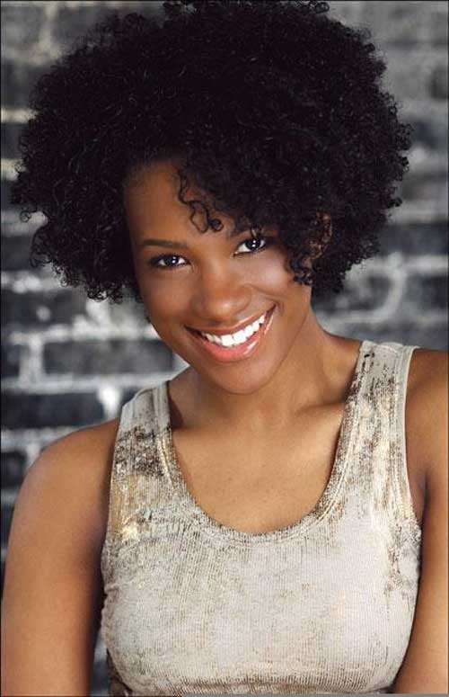 Natural Hairstyles for African, American Women Short on thick hair