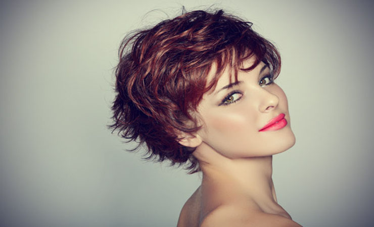 Short Hairstyles for women Curly cropped