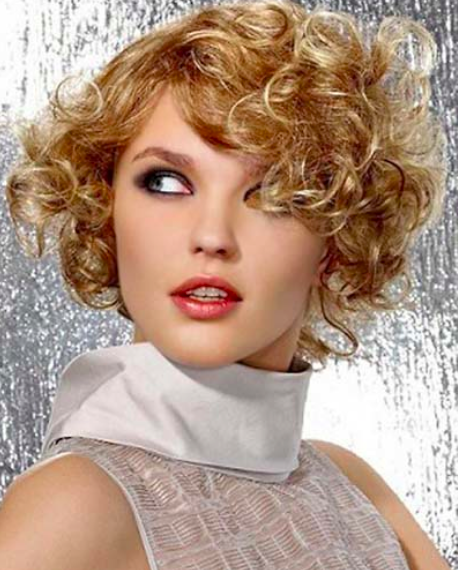 Short Hairstyles for women Small ringlets