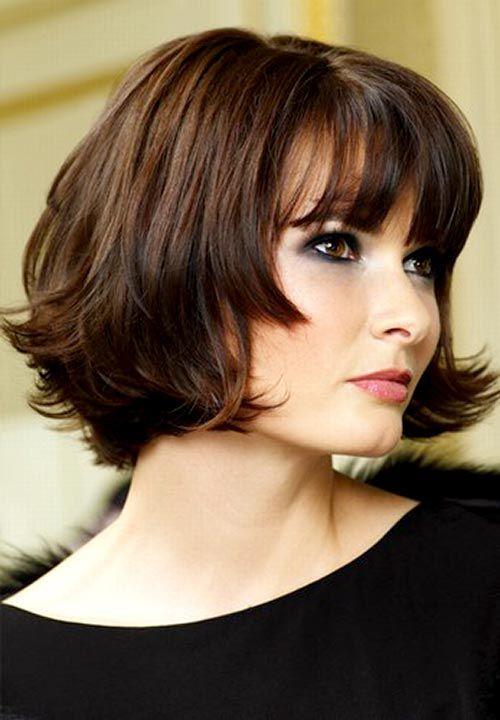 Short Hairstyles for women Wavy bob cut