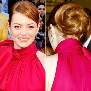 emma-stone-twisty-bun-hairstyle-in-oscar-awards
