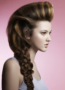 puff-with-braided-pony-tail-party-hairstyles-for-women-over-40